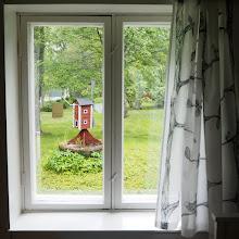 Photo: Näkymä keittiön ikkunasta.
