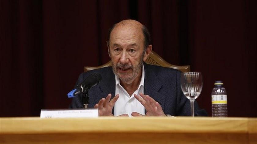 Alfredo Pérez Rubalcaba, durante una conferencia.
