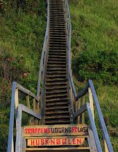 Photo: Trappe til stranden i Tisvildeleje - husk nøglen!!
