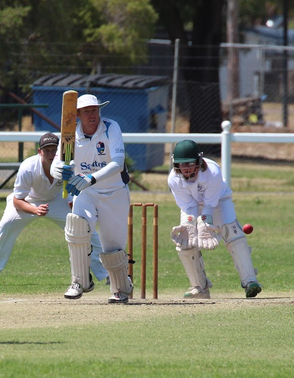 Shane Murphy plays to the leg side in Narrabri's round one Country Plate dispatching of Moree in October last year.