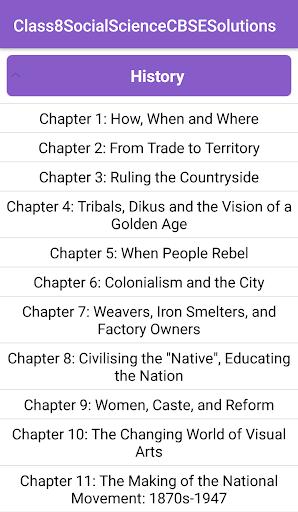 8th Social Science CBSE Solutions - Class 8 1.0 screenshots 2