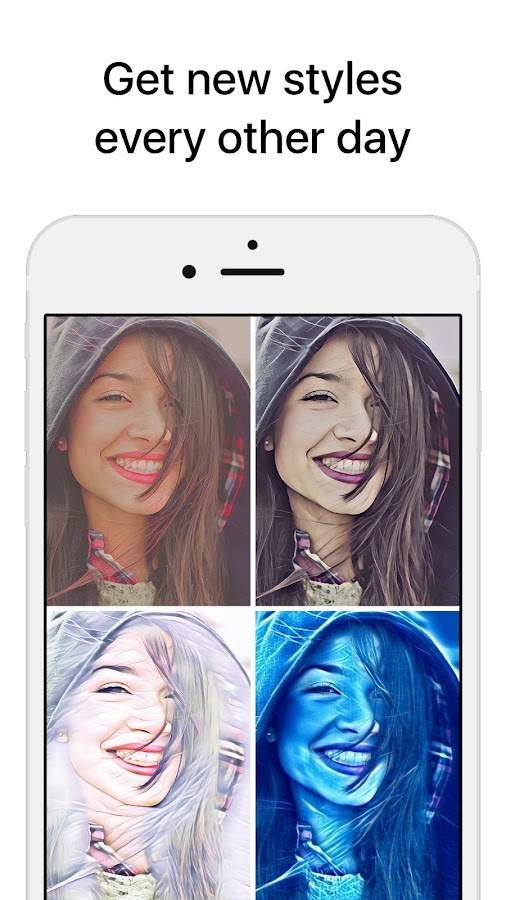 Icon8 Art Filters for Selfies: captura de pantalla