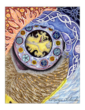 """Photo: """"Eye of Achill"""" Coloured Inks + watercolour - 2011"""