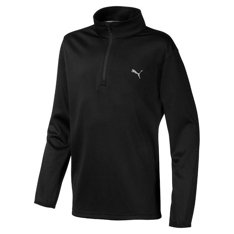 Puma Golf 1/4 Zip Golftröja Junior Svart