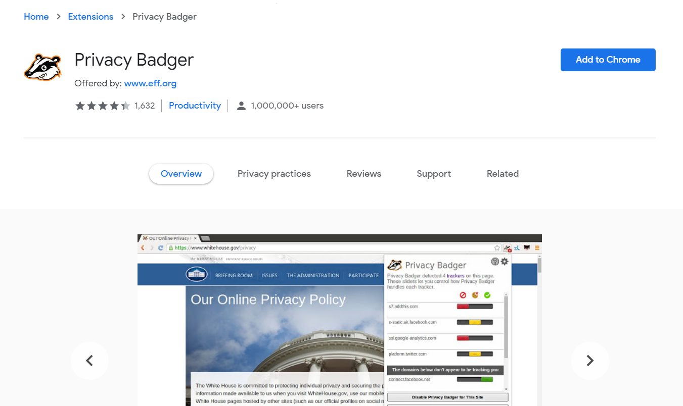 Privacy Badger Chrome Store - Best Free Ad Blocker Software