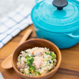 Easy Spinach, Salmon and Broccoli Risotto Recipe