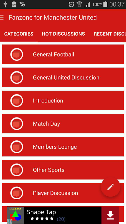 Fanzone for Manchester United- screenshot