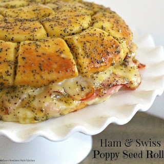 Ham And Swiss Poppy Seed Rolls