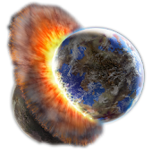 Planetary Collision Live Wall