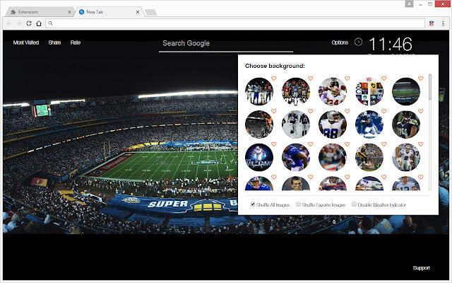 NFL Football & Super Bowl Champions New Tab