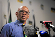 ANC secretary-general Ace Magashule during a press briefing at the ANC headquarters Luthuli House in Johannesburg.