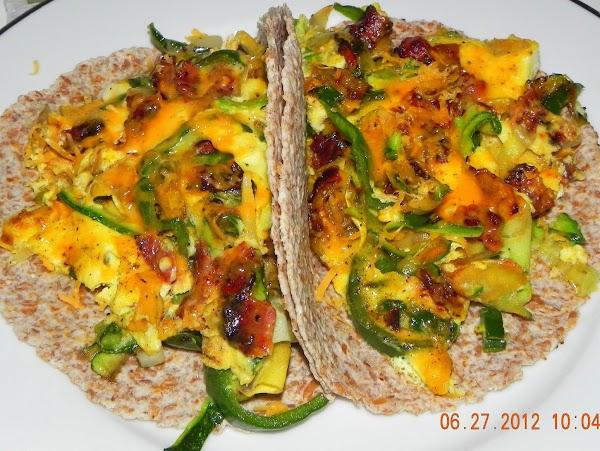 Zucchini, Poblano & Bacon Tacos Recipe