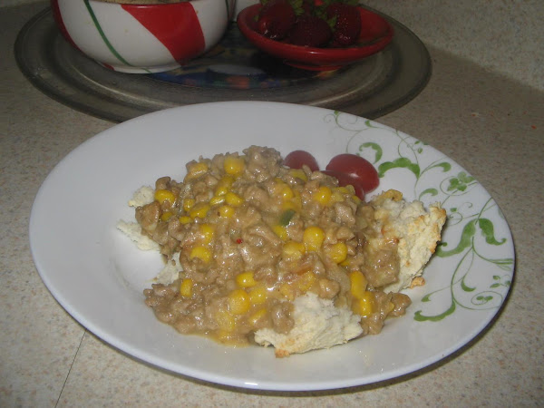 Turkey Medley Over Muffin  Biscuits Recipe