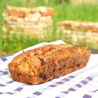Raspberry Banana Bread Loaf