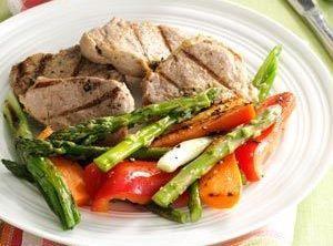 Grilled Pineapple Pork & Vegetables Recipe