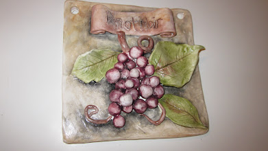 Photo: Hand Built Wine Plaque