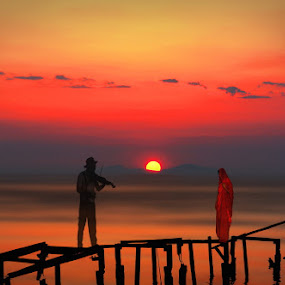 two in red by Babis Mavrommatis - Digital Art People ( art, fantasy, artistic, ceation, manipulation, sea )