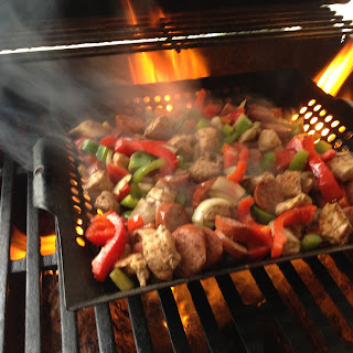 Fire-Licked Chicken and Sausage Stir Fry