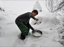 Use a clean container to collect snow flakes while it' snowing. If you want...
