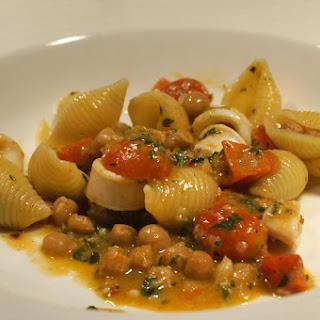 Calamari and Chickpea Pasta.