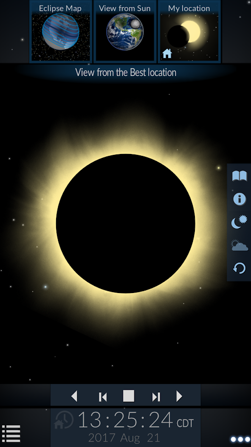 Solar Eclipse by Redshift- screenshot
