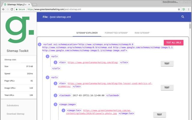Greenlane SEO Sitemap Tools