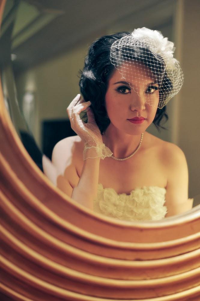 Result: DIY Wedding Birdcage Veil with Flowers - DIY Fashion Accessories | fafafoom.com