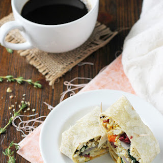 Fall Wild Rice Breakfast Burritos