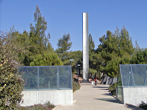 Photo: The Pillar of Heroism commemorating Jewish resistance during the Holocaust.