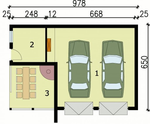 G42 - Rzut garażu