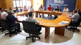 Reunión del alcalde de El Ejido con los presidentes de las Juntas Locales.