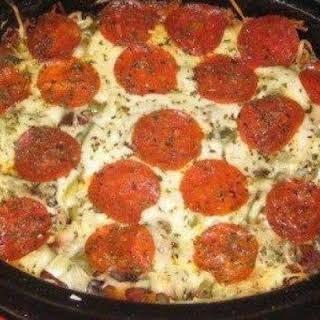 Crock Pot Pizza Pasta.