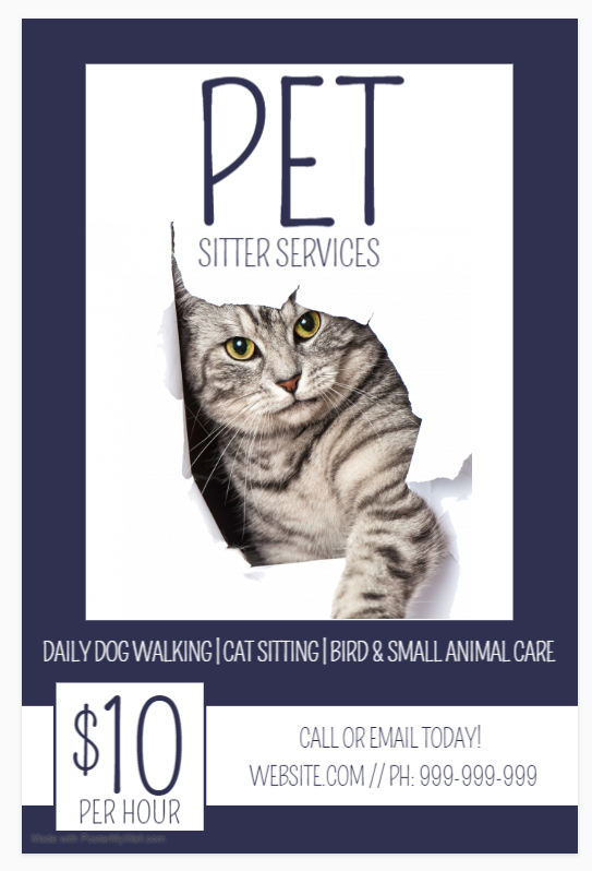 Sample Pet Sitting Brochure
