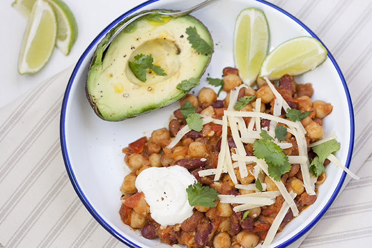 Mexican Baked Beans And Avocado