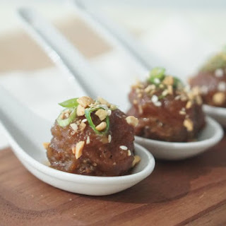 Low Fat Asian Holiday Cocktail Meatballs.