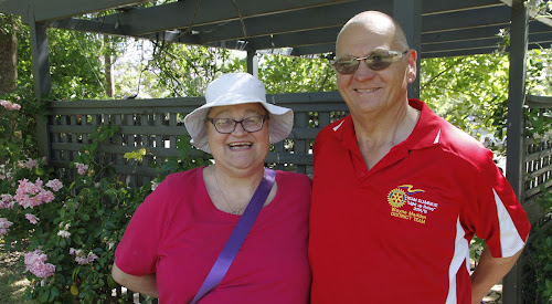 Liver transplant recipient Dominique Madden and her husband Wayne in Narrabri on Saturday.