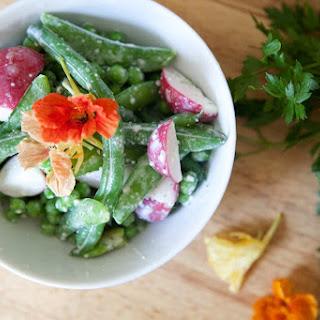 "Bean Salad with ""Caesar"" Dressing."