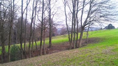 Photo: Blick zum Ausläufer eines Seitentals der Geweke bei ,Auf der Halle', hier in Richtung Westerbauer (gen Südwesten).