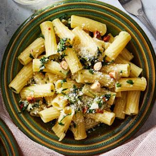 Green Garlic Pesto Pasta with Butter Lettuce Salad & Creamy Lemon Dressing Recipe
