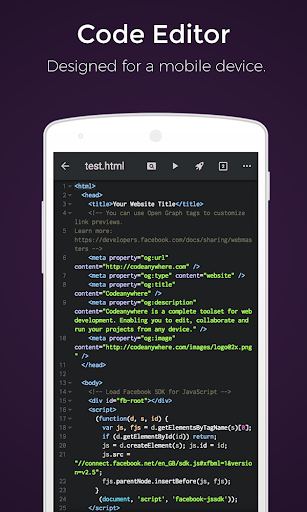 Codeanywhere - IDE, Code Editor, SSH, FTP, HTML by