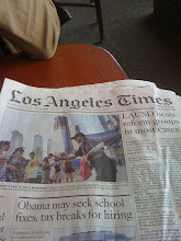 Photo: When we saw the LA Times we knew we must be getting close!!!