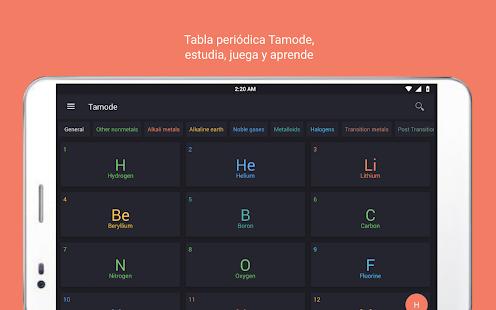 Tabla peridica tamode pro aplicaciones de android en google play tabla peridica tamode pro miniatura de captura de pantalla urtaz Gallery
