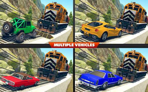 Train Vs Car Crash: Racing Games 2019 android2mod screenshots 6
