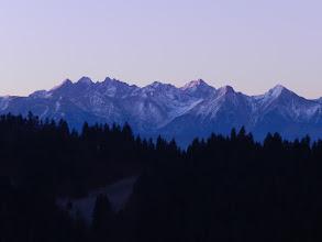 Photo: Majarz, Pieniny - widok na Tatry: Kieżmarski, Łomnica, Durny, Baranie Rogi, Lodowy, Płaczliwa Skała, Hawrań