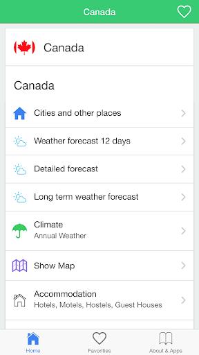 加拿大氣象預報,引導旅客。