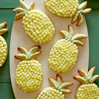 Lime Sugar Cookies with Pineapple Buttercream.