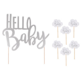 Cake topper hello baby