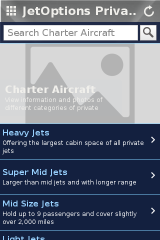 JetOptions Private Jets- screenshot