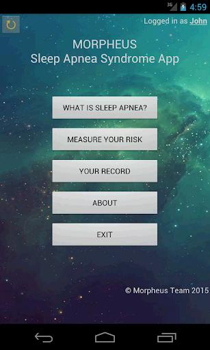Morpheus: Sleep Apnea Syndrome 2.8 screenshots 1