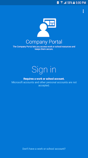 Intune Company Portal Screenshot